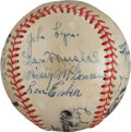 Autographs:Baseballs, 1945-46 US Navy Baseball Team Signed Baseball from The Stan Musial Collection....