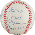 Autographs:Baseballs, 1990's 3,000 Hit Club Signed Baseball from The Stan Musial Collection....