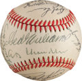 Autographs:Baseballs, 1986 Hall of Fame Induction Ceremony Signed Baseball from The StanMusial Collection....