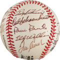 Autographs:Baseballs, Circa 1990 Hall of Fame Induction Ceremony Signed Baseball from TheStan Musial Collection....