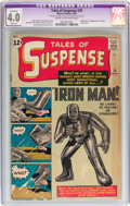 Silver Age (1956-1969):Superhero, Tales of Suspense #39 (Marvel, 1963) CGC Apparent VG 4.0 Slight (A)Cream to off-white pages....