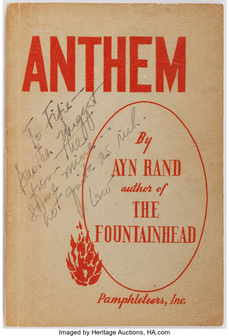 Ayn Rand Anthem Pamphleteers 1946 First Edition Second Issue