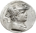 Ancients:Greek, Ancients: GRECO-BACTRIAN KINGDOM. Demetrius I (ca. 200-185 BC). ARtetradrachm (34mm, 16.58 gm, 11h)....