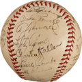 Autographs:Baseballs, 1939 New York Yankees Team Signed Baseball with Gehrig....