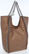 Luxury Accessories:Bags, Stella McCartney Bronze Linen Falabella Hobo Bag with GunmetalChain Shoulder Straps. ...