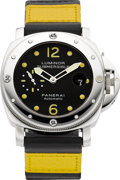 Timepieces:Wristwatch, Panerai Luminor Submersible Automatic, OP 6527 Steel Diver's Watch. ...