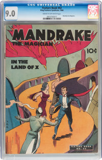 Feature Books #52 Mandrake (David McKay Publications, 1947) CGC VF/NM 9.0 Cream to off-white pages