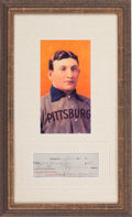 Autographs:Checks, 1919 Honus Wagner Signed Check Display....