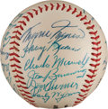 Autographs:Baseballs, 1957 American League All-Star Team Signed Baseball from The StanMusial Collection....