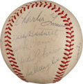 Autographs:Baseballs, Circa 1959 Old Timers Day Multi-Signed Baseball with JackieRobinson, Hornsby....