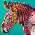 Prints:Contemporary, ANDY WARHOL (American, 1928-1987). Grevy's Zebra (fromEndangered Species), 1983. Screenprint in colors on LenoxMuseum ...