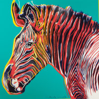 ANDY WARHOL (American, 1928-1987) Grevy's Zebra (from Endangered Species), 1983 Screenprint in color