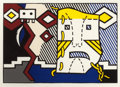 Prints:Contemporary, ROY LICHTENSTEIN (American, 1923-1997). American Indian ThemeV, 1980. Woodcut in colors on Suzuki handmade paper. 23-1/...