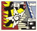 Prints:Contemporary, ROY LICHTENSTEIN (American, 1923-1997). American Indian ThemeII, 1980. Woodcut in colors on handmade Suzuki paper. 24 x...