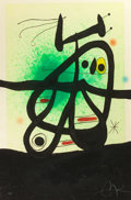 Prints:European Modern, JOAN MIRÓ (Spanish, 1893-1983). L'oiseau Mongol, 1969.Etching and aquatint printed in colors with carborundum. 40-1/4x...