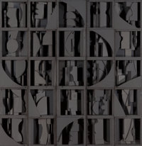 LOUISE NEVELSON (American, 1899-1988) Model for Sky Covenant, 1974 Painted wood 27 x 26 inches (6