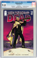 Modern Age (1980-Present):Horror, Walking Dead #10 (Image, 2004) CGC NM/MT 9.8 White pages....