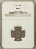 Bust Dimes: , 1832 10C XF40 NGC. NGC Census: (8/257). PCGS Population (23/265).Mintage: 522,500. Numismedia Wsl. Price for problem free ...