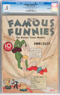 Platinum Age (1897-1937):Miscellaneous, Famous Funnies #11 (Eastern Color, 1935) CGC PR 0.5 IncompleteCream to off-white pages....