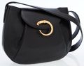 Luxury Accessories:Bags, Cartier Black Panthere Leather Shoulder Bag. ...
