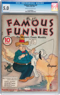 Platinum Age (1897-1937):Miscellaneous, Famous Funnies #37 (Eastern Color, 1937) CGC VG/FN 5.0 Cream tooff-white pages....