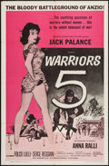 "Movie Posters:War, Warriors 5 and Other Lot (American International, 1962). One Sheets(2) (27"" X 41""). War.. ... (Total: 2 Items)"