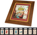 Baseball Collectibles:Others, 1884 Lawson's Playing Cards Complete Set (36) Plus Advertising Poster. ...