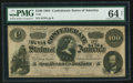 Confederate Notes:1864 Issues, Black and White Signature Combination T65 $100 1864 PF-1 Cr. 490.. ...