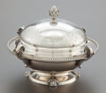 Silver Holloware, American, A TIFFANY & CO. SILVER COVERED BUTTER DISH BY JOHN MOORE.Tiffany & Co., New York, New York, circa 1865-1870. Marks:TIFFA...