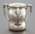 Silver & Vertu:Hollowware, AN UNGER BROTHERS SILVER THREE-HANDLED LOVING CUP. Unger Brothers, Newark, New Jersey, circa 1890. Marks: UB (interlaced...