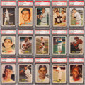 Baseball Cards:Sets, 1957 Topps Baseball PSA Graded Complete Set (407). ...
