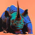 Prints:Contemporary, ANDY WARHOL (American, 1928-1987). Black Rhinoceros (fromEndangered Species), 1983. Screenprint in colors on LenoxMuse...