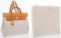 Luxury Accessories:Bags, Hermes Vache Naturelle & Sand Toile Herbag PM Backpack Bag. ...