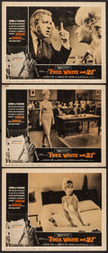 "Movie Posters:Exploitation, Free, White and 21 (American International, 1963). Lobby Cards (3)(11"" X 14""). Exploitation.. ... (Total: 3 Items)"