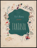"""Movie Posters:Animation, Fantasia (RKO, 1940). Program (Multiple Pages, 9.75"""" X 12.75""""). Animation.. ..."""