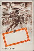 "Movie Posters:War, Republic Studios WWII Stock Poster (Republic, 1940s). One Sheet(27"" X 41"") Flat Folded. War.. ..."