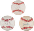 Autographs:Baseballs, Presidential Single Signed Baseballs Lot of 3 from The Stan MusialCollection....