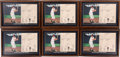 Baseball Collectibles:Others, 1986 Stan Musial Statistics Displays Lot of 6....