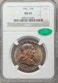 Franklin Half Dollars: , 1962 50C MS65 NGC. CAC. NGC Census: (866/20). PCGS Population(601/17). Mintage: 9,700,000. Numismedia Wsl. Price for probl...