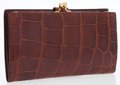 Luxury Accessories:Accessories, Bottega Veneta Brown Alligator Continental Wallet. ...