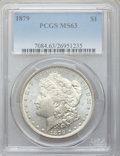 Morgan Dollars: , 1879 $1 MS63 PCGS. PCGS Population (4031/4549). NGC Census:(3307/4545). Mintage: 14,807,100. Numismedia Wsl. Price for pro...