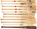 Autographs:Bats, Stan Musial Bats Lot of Eleven with Six Signed Examples....