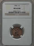 Indian Cents: , 1903 1C MS64 Red and Brown NGC. NGC Census: (306/155). PCGSPopulation (543/85). Mintage: 85,094,496. Numismedia Wsl. Price...
