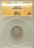 Liberty Nickels, 1885 5C -- Scratched -- ANACS. Good 4 Details. NGC Census:(97/457). PCGS Population (98/860). Mintage: 1,476,490. Numismed...