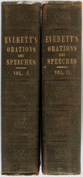 Books:Americana & American History, Edward Everett. Orations and Speeches on Various Occasions.Boston: Charles C. Little and James Brown, 1850. Second ... (Total:2 Items)