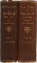 Books:Americana & American History, James G. Blaine. Twenty Years of Congress: from Lincolnto Garfield. Norwich: Bill, 1884. First edition. Two thi...(Total: 2 Items)
