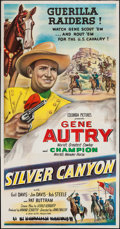 """Movie Posters:Western, Silver Canyon (Columbia, 1951). Three Sheet (41"""" X 79""""). Western.. ..."""