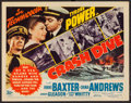 "Movie Posters:War, Crash Dive (20th Century Fox, 1943). Title Lobby Card (11"" X 14"").War.. ..."
