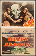 """Movie Posters:War, Hell's Angels (United Artists, R-1937; Astor Pictures, R-1947).Title Lobby Card & Lobby Card (11"""" X 14""""). War.. ... (Total: 2Items)"""