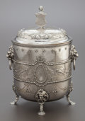 Silver Holloware, British:Holloware, AN ELKINGTON & CO. VICTORIAN SILVER-PLATED REPOUSSÉ BISCUITBOX. Elkington & Co., Birmingham, England, circa 1860. Marks:...